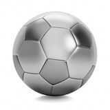 Silver soccer ball Royalty Free Stock Photo