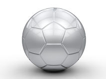 Silver soccer ball. 3d rendering silver soccer ball on white background Royalty Free Stock Photos