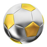 Silver soccer ball Royalty Free Stock Photo