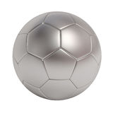 Silver soccer ball isolated on white background Stock Images
