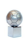 Silver soccer cup Royalty Free Stock Image