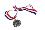 Silver Soccer Medal Royalty Free Stock Images
