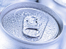 Silver soda cans Stock Images