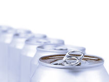 Silver soda cans Royalty Free Stock Images