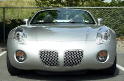 Silver Solstice. Silver convertible Solstice sports car Royalty Free Stock Photography