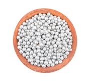 Silver Souf Goli. Souf goli or fennel seed ball, indian traditional digestive food good to eat after lunch or dinner, also serve in festival of diwali, holi, and stock photography