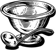 Silver Soup Tureen Royalty Free Stock Photos