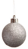 Silver spangled Christmas ball Royalty Free Stock Images