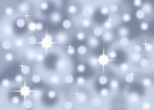 Silver Sparkle abstract bokeh background stock illustration
