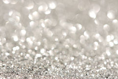 Silver sparkle background stock images