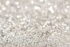 Silver sparkle background Stock Photos