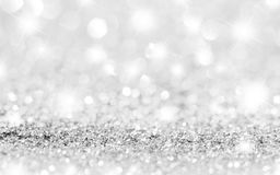 Silver Sparkle Stars Background Stock Images