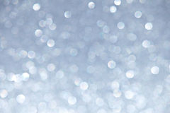 Silver Sparkles Background Stock Image