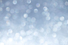 Silver Sparkles Bokeh Background Royalty Free Stock Photo