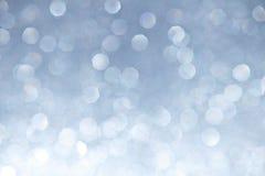 Silver Sparkles Bokeh Background Royalty Free Stock Photo