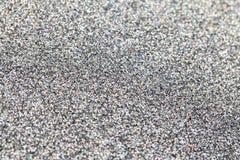 Silver sparkles close up stock photos
