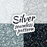 Silver sparkles glitter background Stock Images
