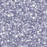 Silver sparkles seamless pattern background Royalty Free Stock Photography