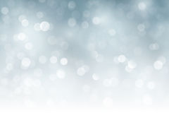 Silver sparkling Christmas, holiday blurry lights, bokeh stock illustration