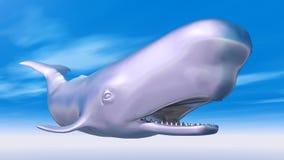 Silver Sperm Whale Stock Photos
