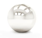 Silver sphere Royalty Free Stock Photo