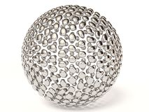 Silver sphere Royalty Free Stock Photos