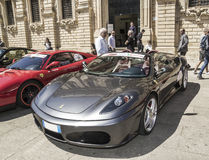 Silver spider ferrari f 430 Royalty Free Stock Photos
