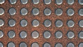 Silver spikar texturerad bakgrund Royaltyfria Bilder