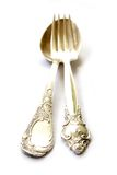 Silver Spoon and Fork Stock Photos