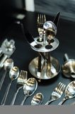 Silver spoon set Royalty Free Stock Photo
