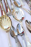 Silver spoons Stock Photos