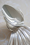Silver-spoons Stock Photo