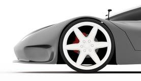 Silver sport car concept Stock Photo