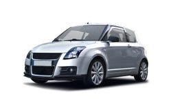 Silver Sport car. Silver Suzuki Swift isolated on white Stock Image