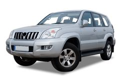 Silver Sport Utility Vehicle Royalty Free Stock Photo