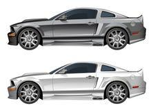 Silver sports car Stock Photo