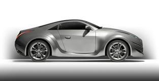 Silver sports car. Non-branded concept car. Original car design Royalty Free Stock Image