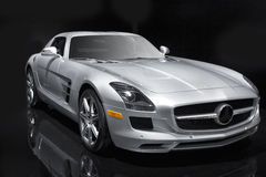Silver Sports Car Royalty Free Stock Images
