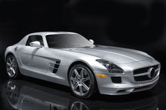 Silver Sports Car Royalty Free Stock Photo