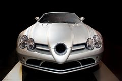 Silver sports car Royalty Free Stock Photos