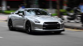 Silver sports car royalty free stock image