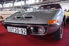 Silver sports car Opel GT Stock Images