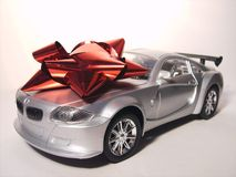 Silver Sports Car Prize Royalty Free Stock Photo