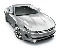 Silver sports car Royalty Free Stock Photography