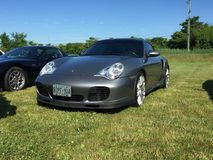Nice sports car at and coffee event in Komoka Ontario stock photography