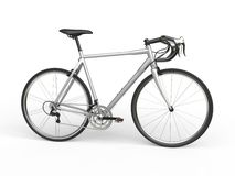 Silver sports race bicycle Royalty Free Stock Image