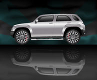 Silver sports utility vehicle Royalty Free Stock Photo