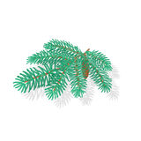 Silver Spruce Christmas tree vector illustration Royalty Free Stock Photo