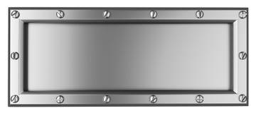 Silver Square Stock Image