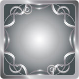Silver Square Frame Stock Images